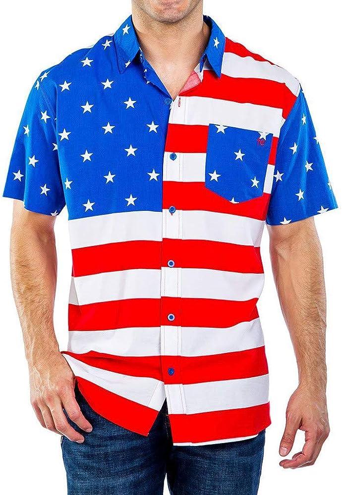 XuanhaFU Camiseta Hombre de Verano, Camisa con Estampado de Bandera Americana para Hombre, M: Amazon.es: Ropa y accesorios