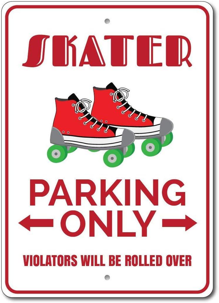 HNNT Cartel de estacionamiento Skater para Patinar, decoración de ...