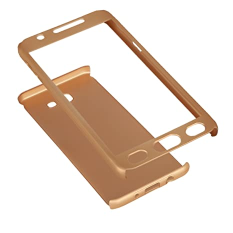 the latest abc94 5f373 Accworld 360 Degree Full Body Protection Case Cover For Samsung Galaxy J7  Prime (Includes Front & Back Cover & Screen Tempered Glass) - Gold