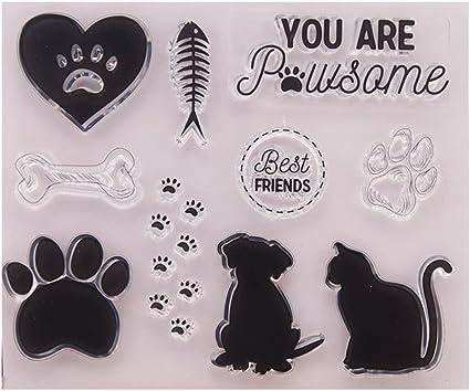 Dog Paw Bone Cutting Dies Stencil DIY Scrapbooking Album Paper Card Crafts Decor