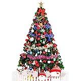 新诚优品 1.8m豪华加密圣诞树套装含135配饰 不含树裙(亚马逊自营商品, 由供应商配送)