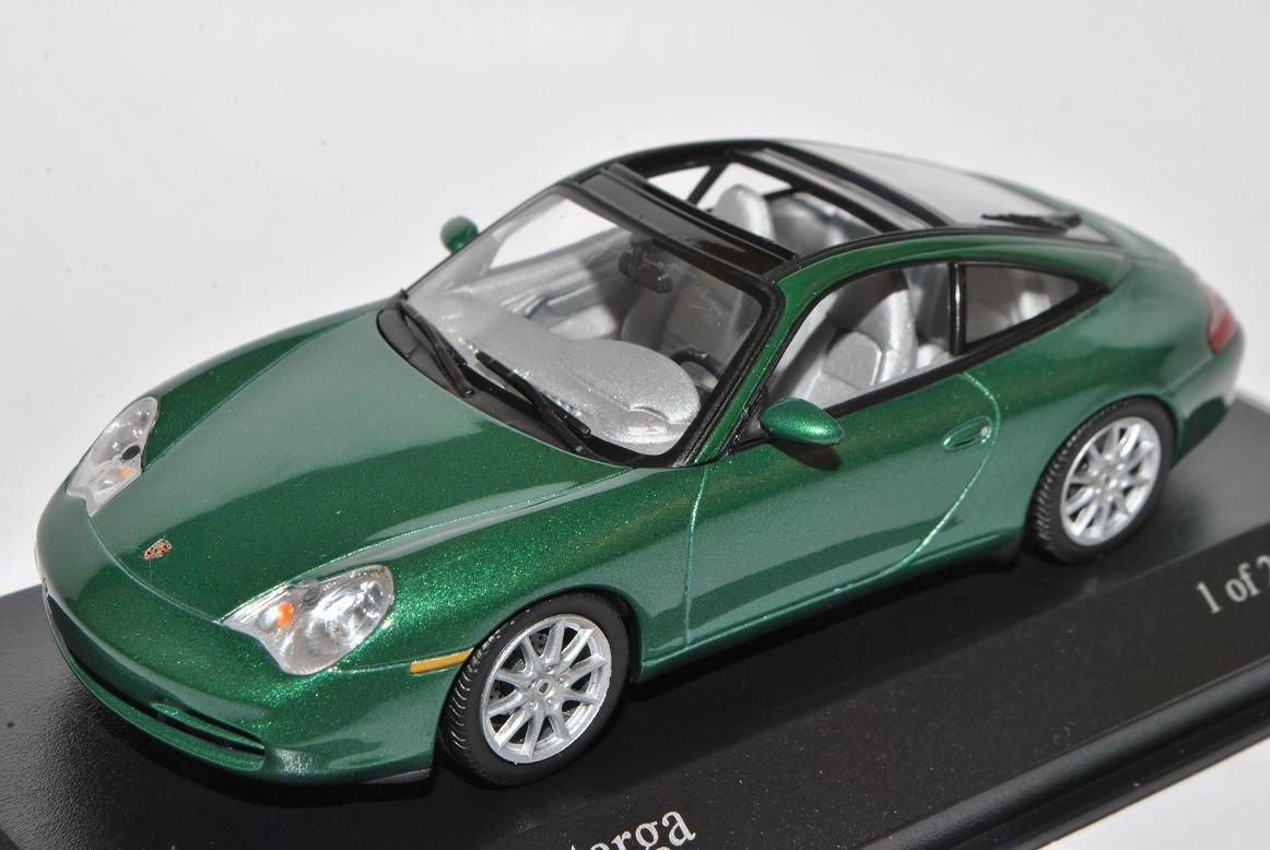Minichamps Porsche 911 996 Targa Coupe Cabrio Grün 1997-2006 1/43 Modell Auto