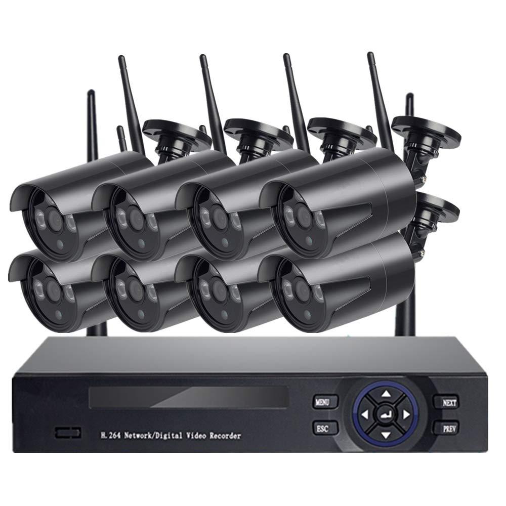 超爆安 KONGSHEN 8ch WiFiワイヤレスdvrビデオセキュリティカメラシステム、屋外用ホームセキュリティ監視、防水HDナイトビジョンモーション検知サポートiPhoneおよびAndroid   B07QNWM8RW, 家具インテリア雑貨 ビカーサ 95e3b74d