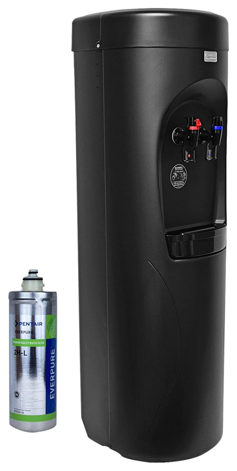 Aquverse A3500-K Hot/Cold Bottleless Water Cooler with Filter and Install Kit Black