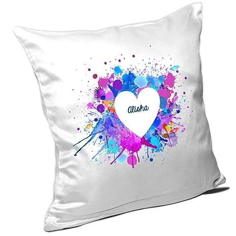 Cojín con nombres Alisha y motivos Diseño para San Valentín ...