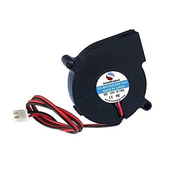 Naliovker 2 Piezas Ventilador Soplador de Enfriamiento DC 12V 0.15 ...