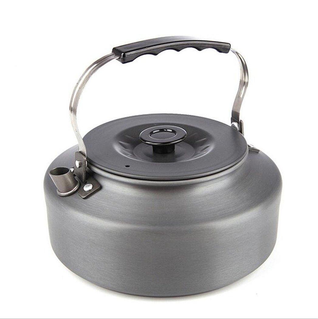 KANGLE Camping Teekanne 1.6L Portable Hartoxidation Wasserkocher