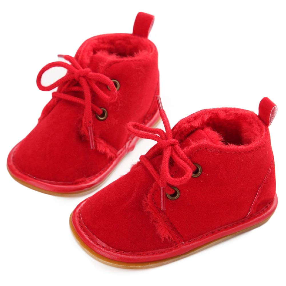 Fnnetiana Multicolor Unisex Baby Warm Non-Slip Soft Sole Boots Infant Prewalker Nursling Snow Shoes