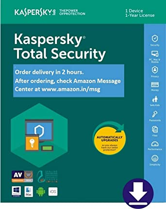 1 Year Kaspersky Internet Security 2019 w//Anti-Virus 3 PC Mac Android iOS