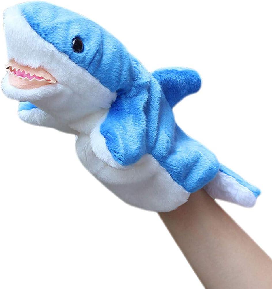 Joyibay Cuentos De Marionetas para Niños Lindo León Marino Tiburón Felpa Marioneta Juguete Animal