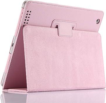 Funda para iPad 2/3/4, FANSONG Funda Protectora de Cuero sintético con Soporte Litchi Bifold, función de Apagado automático para iPad 2, iPad 3, iPad 4: Amazon.es: Electrónica