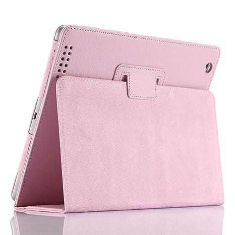 Funda para iPad 2/3/4, FANSONG Funda Protectora de Cuero sintético con Soporte Litchi Bifold, función de Apagado automático para iPad 2, iPad 3, iPad ...