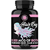 Angry Supplements Hair Envy 10,000 mcg of Biotin and Keratin, Grow + Hydrate Hair, Strengthen Thicken Nails, Clear…