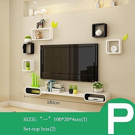Decoración de pared Set Top Box Rack TV Mueble de televisión Estantes de Pared de Dormitorio (Varios Estilos Disponibles) (Color : PAG): Amazon.es: Hogar