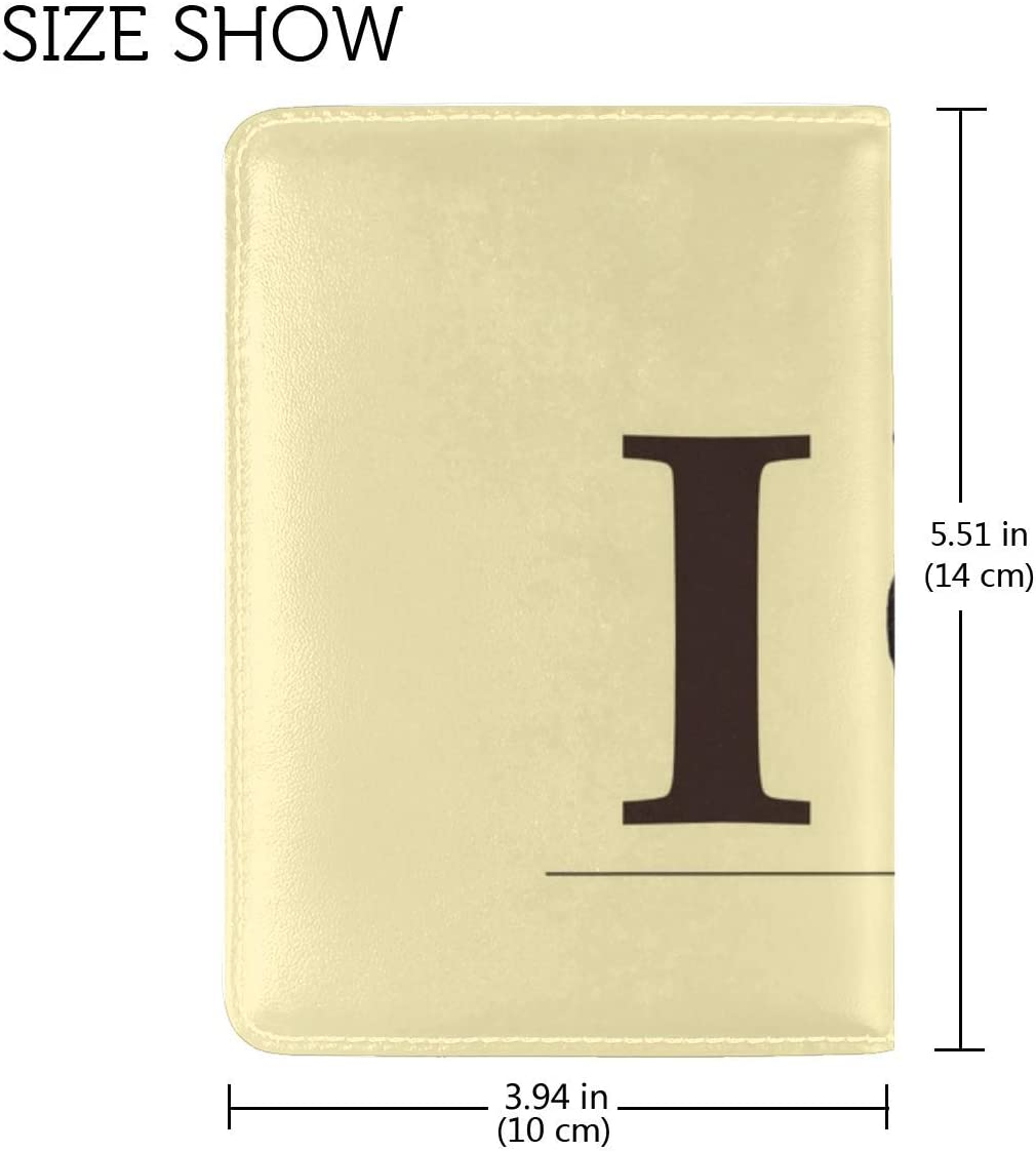 JiaoL Love Heart Body Recognition Leather Passport Holder Cover Case Travel One Pocket