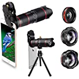 Phone Camera Lens, Best Keiyi 15X iPhone Camera Telephoto Lens kit Double Regulation Lens Attachment with Tripod and Universal Clip Compatible with iPhone X/XS/XS Max/XR/8/7 Plus Samsung Android Phone