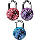 Master Lock 1533TRI Locker Lock Mini Combination Padlock, 3 Pack, Assorted Colors(2 Pack)