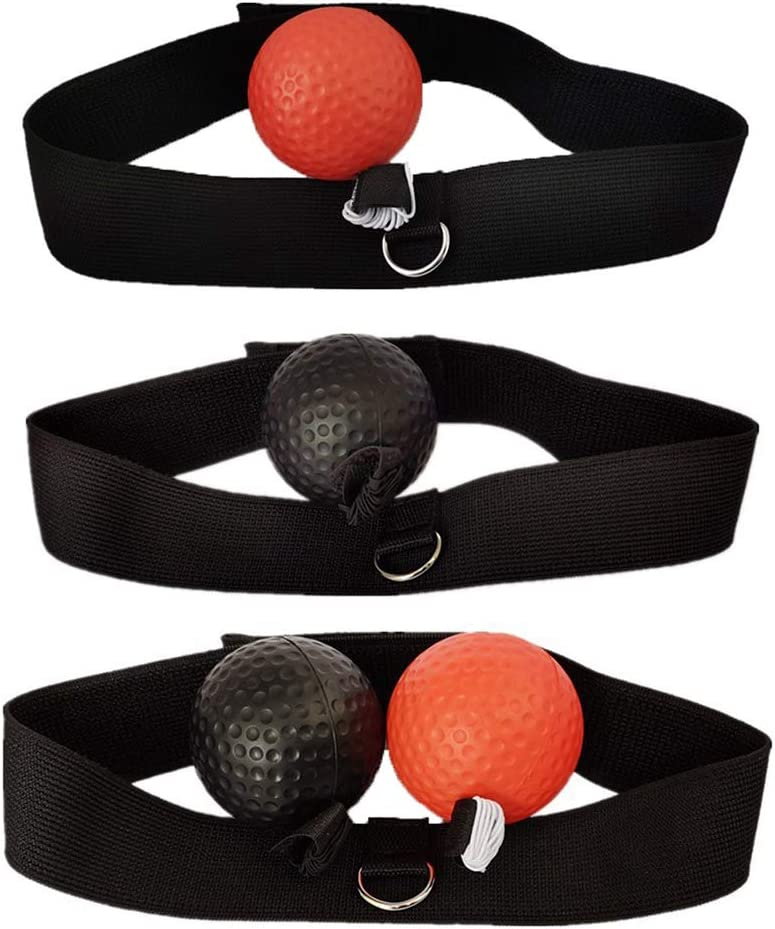 Edwiin Byron Head-mounted Boxing Speed Ball Fight Ball Reflex Boxing Trainer Training Boxer Speed Punch Head Cap String Boxing Ball Fitness