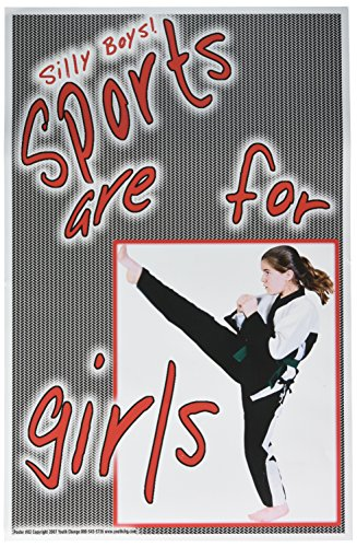 Poster #82 Inspirational, Motivational K-12 Girls' Fitness, P.E. Poster: Kickboxing, Martial Arts