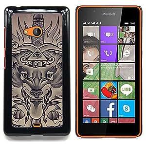 For Nokia Lumia 540 Case , Masones Ojo Pirámide Espada - Diseño Patrón Teléfono Caso Cubierta Case Bumper Duro Protección Case Cover Funda