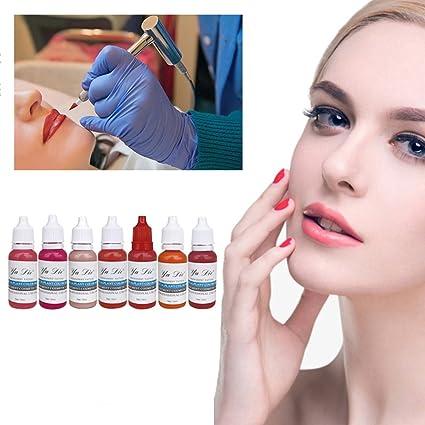 7 colores cejas permanentes lápiz labial Microblading pigmentos ...