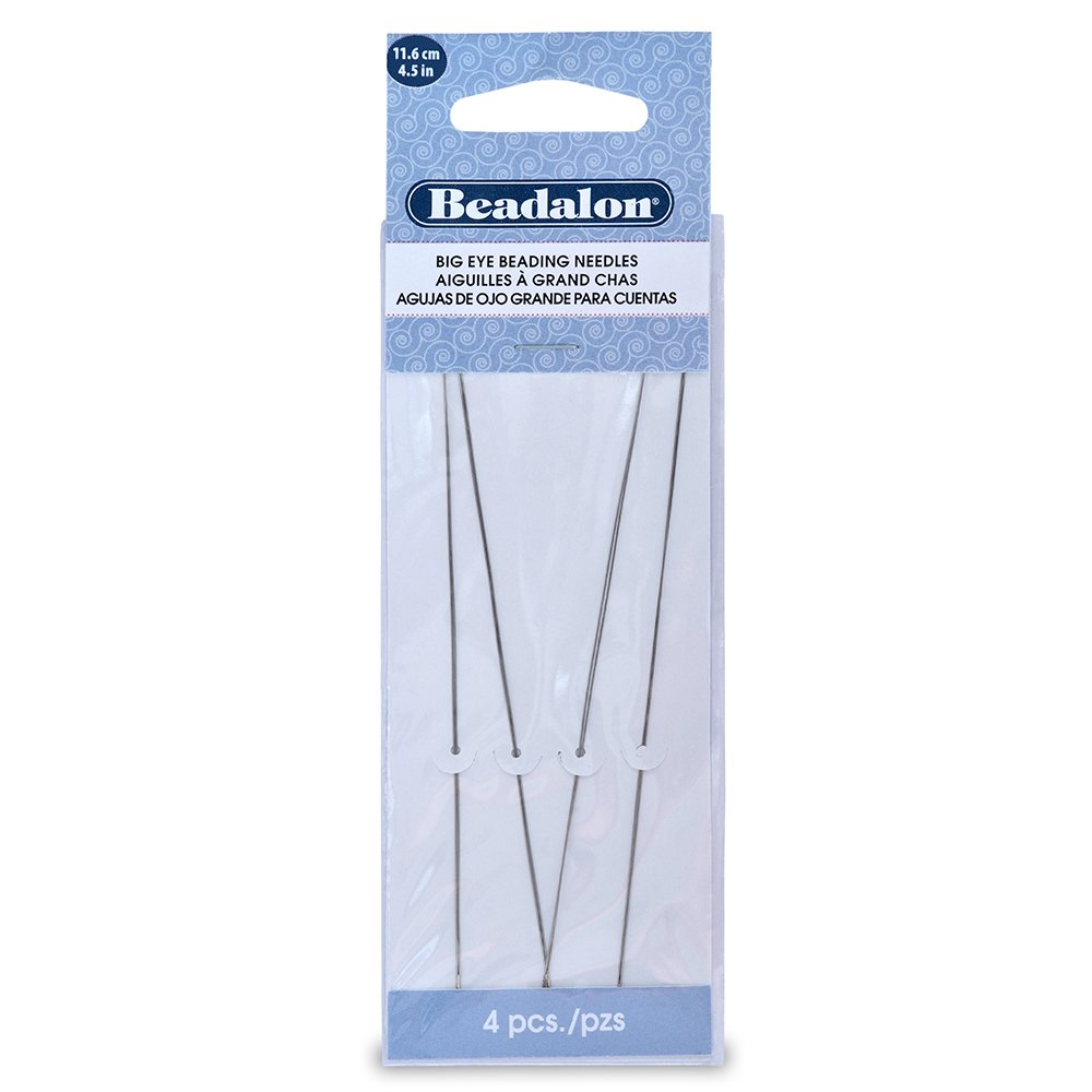 Beadalon Big Eye Needles 4.5-Inch 4 Pieces JNEED4.5/4