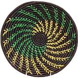 Fair Trade Uganda African Bukedo & Raffia Bowl 11.5-12.5'' Across, UR1612