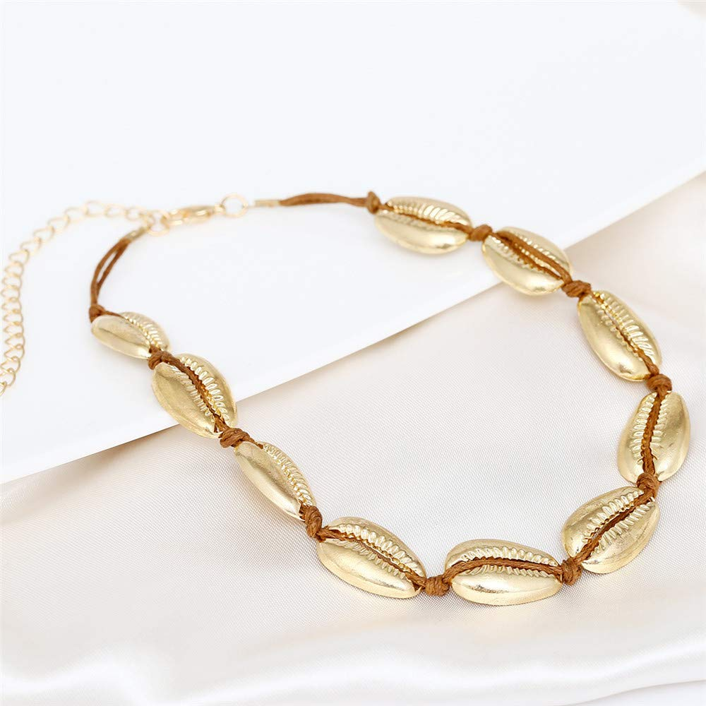 Autumn Water Sea Shell Choker Necklace Women Gold Silver Color Summer Shell Jewelry Choker Simple Necklace Girls I-162