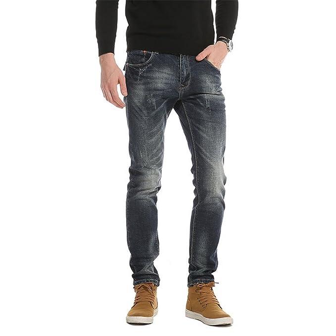 Amazon.com: Nueva llegada Denim pantalones largos Hombres ...