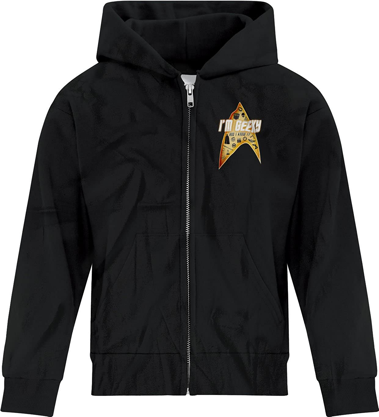 BSW Youth Boys Im Geeky and I Know It Funny LMFAO Zip Hoodie