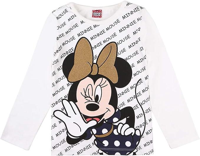 Disney Ni/ñas Minnie Mouse Camiseta Blanco