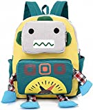 Mini Toddler Kid Backpack with Leash Harness Yellow for Kindergarten Boy 3 Yesrs