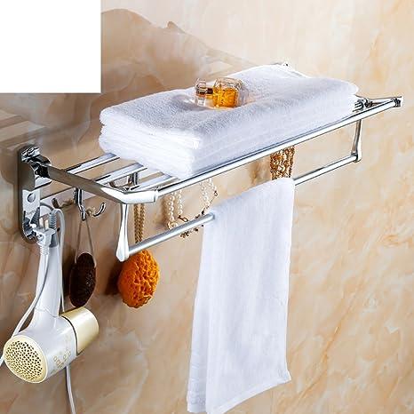 WXT YUE Estante de toalla del acero inoxidable/La sala de doblado toallero/Estantes