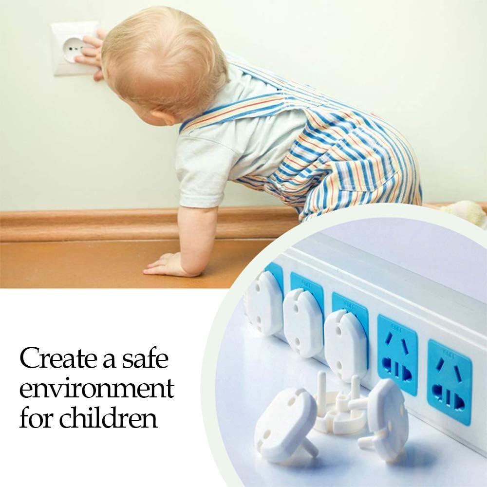 Tapa El/éctrico Enchufes para Ni/ños Cubre Enchufes para Bebe LINVINC Blanco Protector de Enchufes Norma Europea 6piezas blanco