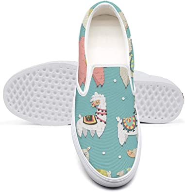 WhiteUnicorn Mens Rainbow Weed Leaves Pattern Canvas Slip on Shoes Casual Sneakers