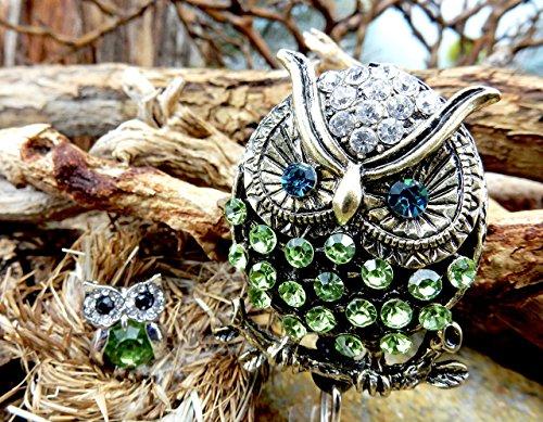- Owl Retractable Badge Reel Rhinestone ID Card Holder Crystal Identification Name Tag Clip Nursing Student Pinning Graduation Gift RN Medical Bling Jewelry Nurse Week Cute Animal Bird Accessory 26
