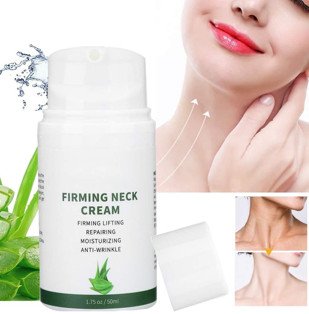 Neck Cream for Crepey Skin, Sagging Skin, Double Chin Reducer - Anti Aging Neck Firming Cream and Moisturizer Reduces Wrinkles, Fine Lines and Age Spots - Face and Chest Tighthening and Lifting Cream