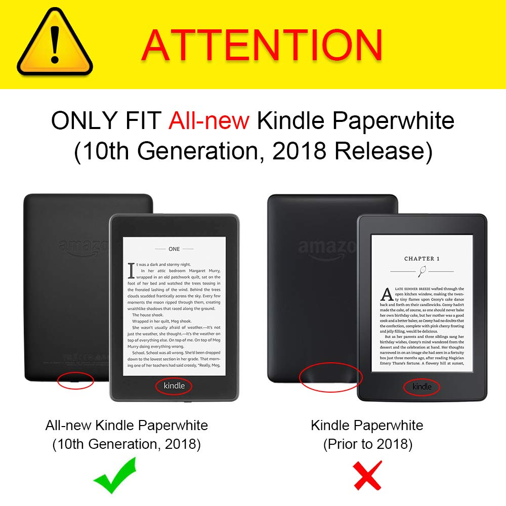 Details about Fintie Slim Leather Case For All-new Kindle Paperwhite  E-Reader 10th Gen 2018