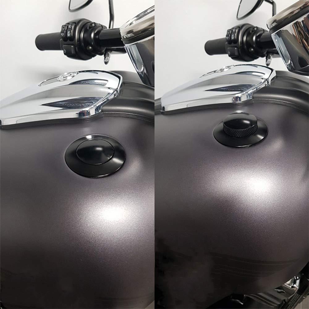 Chrome Bouchon de r/éservoir de carburant de moto Thread R/éservoir de carburant adapt/é pour Harley Sportster Super Glide Touring Road King