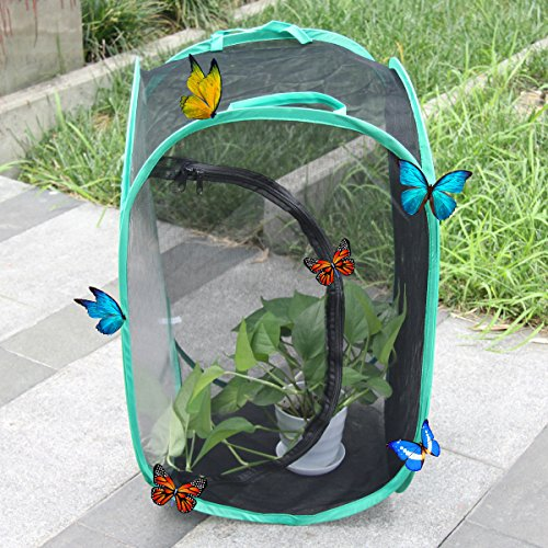 AUSPA Insect and Butterfly Habitat Terrarium Pop-up – 23.6 Inches Tall (Black)
