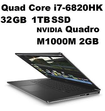Dell Precision 5000 M5510 Mobile Workstation: Intel Quad Core i7-6820HK  2 7GHz | 1TB SSD | 32GB | 15 6