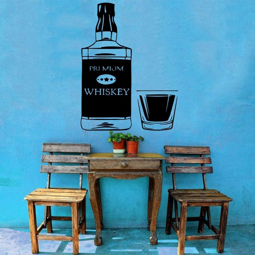 Tianpengyuanshuai Etiqueta de la Pared del Vinilo de la Cerveza Moderna Etiqueta Decorativa del Whisky del Vino Etiqueta engomada de la Pared del Whisky del Whisky 40x31cm