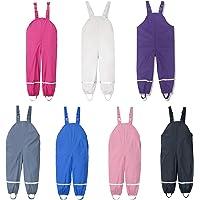 Fossen Pantalones de Lluvia Unisex para niños, Pantalones Impermeable para Niños Niñas, con Peto de Lluvia, para niñas y…