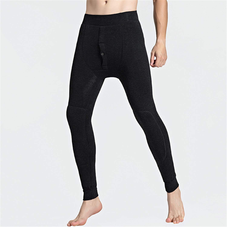 b25e34ab11a62 Comradesn Below Zero 30 Degrees Super Warm Men's Merino Wool Leggings  Winter Thermal Underwear Skinny Fleece Tights for Men Pants Black 6XL:  Amazon.co.uk: ...