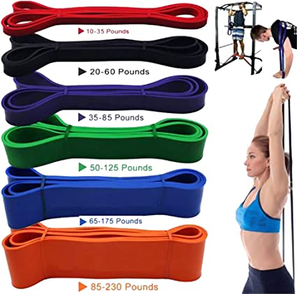 Latex Resistance Band Strength Weight Gym Fitness Exercise Yoga Training Tools