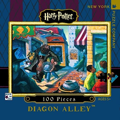 New York Puzzle Company - Harry Potter Diagon Alley Mini - 100 Piece Jigsaw Puzzle