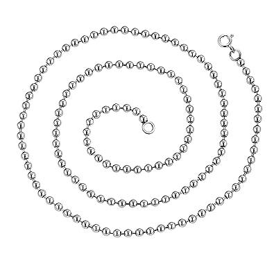 design intemporel b98a8 c4ba2 Aienid Collier pour Homme avec Pendentif Collier Perle ...