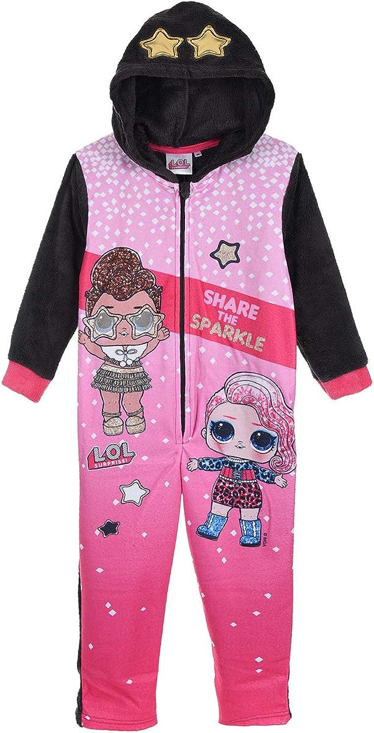 Mono de pijama de forro polar para niña LOL sorpresa 5/6/7/8 ...