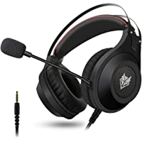 Gaming Headset, ELEGIANT Over-Ear Gaming Headphones with Microphone, Bass Stereo Surround Sound Volume Control, 3.5mm Jack Compatible with PS4 Pro/PS4 Xbox PC Laptop Tablet Mac Black
