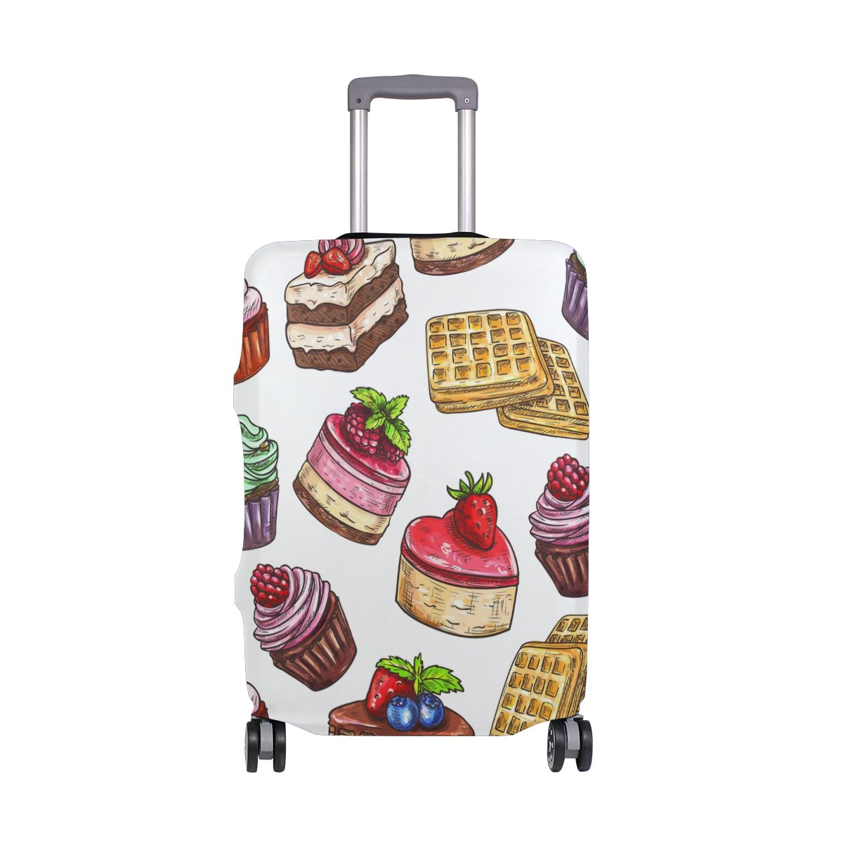 Happy Birthday Cakes Candy Suitcase Luggage Cover Protector for Travel Kids Men Women